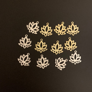Little Lotus Charms (Gold Plated/Silver Plated) | Purity Beads