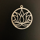 Lotus Charm/Findings Copper Finding Gold Finished/Silver Plated, Gunmetal.