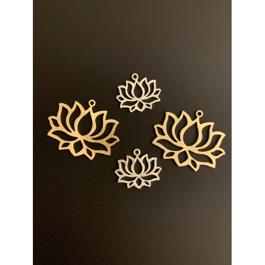 Lotus Findings (Gold Finished/Silver Plated,Gunmetal) | Purity Beads