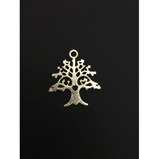 Love Tree Pedant/Charm (Gold Finished/Silver Plated) | Purity Beads