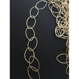 Marquise Chains, Marquise Shape Gold Finish or Silver Plated E-coated, Brushed Finish | Purity Beads