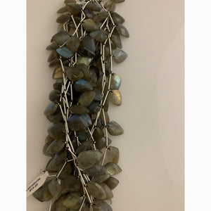 Natural Labradorite AAA Quality Natural Faceted Gemstone Tear Drop Labradorite Beads. | Purity Beads