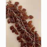 Natural Red Onyx Teardrop Beads,  Strand Gemstone Beads, Drop Beads, Red Agate Beads. | Purity Beads