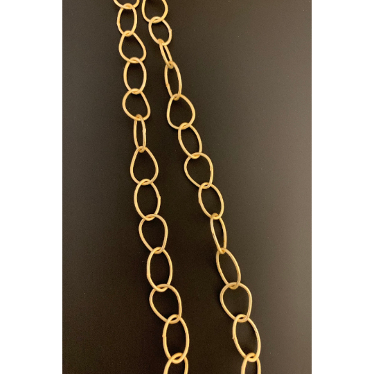 Oval Shaped, Egg Shape, Marquise shape Fancy Chain, Gold finish And Silver Plated, E-coated, Designer's Chain. | Purity Beads