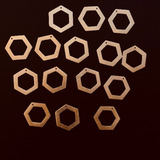 Pentagon Shaped Findings (Gold Finished/Silver Plated) | Purity Beads