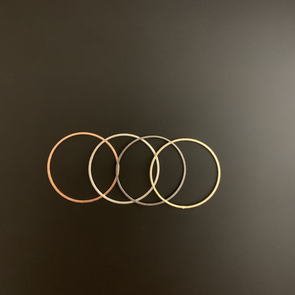 A Pack of Rings, E-coated, Brushed Finish,Hoops, Handmade Rings/Circles/Connectors,in 4 COLORS AND 10 sizes (12,24,30,35,38,40,45,50,60,70m)