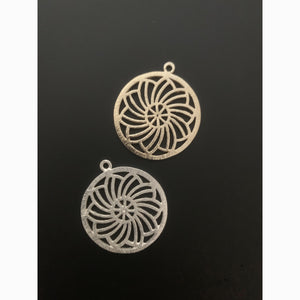 Round Pendent/Charm (Gold Plated/Silver Plated) | Purity Beads