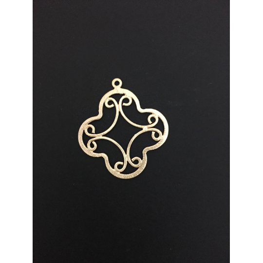 Scrollwork Quatrefoil Shaped Findings (Gold Finished/Silver Plated) | Purity Beads