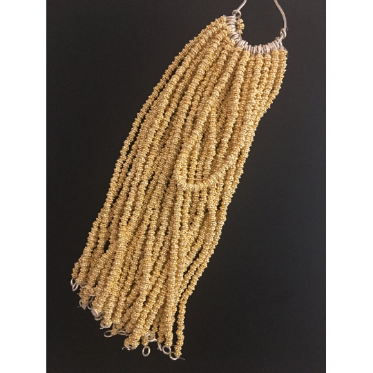 1 Strand of Decorative Gold Spacer ,Gold Finish and Silver Plated Bead, E-coated Beads Size :5mm and 6mm