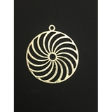 Spiral Pendant (Gold Finished/Silver Plated) | Purity Beads