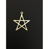 Star Shaped Pendant (Gold Finished/Silver Plated) | Purity Beads