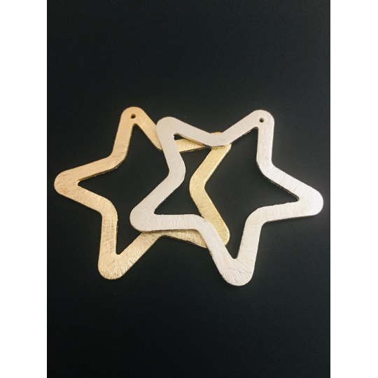 Star Shaped Pendant/Charm Gold Finished/Silver Plated,Gunmetal