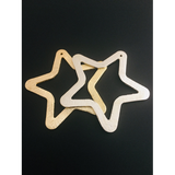 Star Shaped Pendant/Charm (Gold Finished/Silver Plated) | Purity Beads