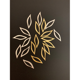 Stylized Leaf Charm (Gold Plated/Silver Plated) | Purity Beads