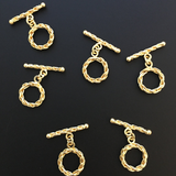 Toggles Silver Plated or Gold Finish, E-Coated, Decorated/Twisted Bar.