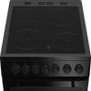 Beko EDVC503B 50cm Electric Cooker with Ceramic Hob - Black
