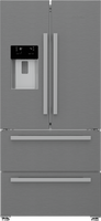 Blomberg KFD4953XD American Fridge Freezer - Stainless Steel - F Rated