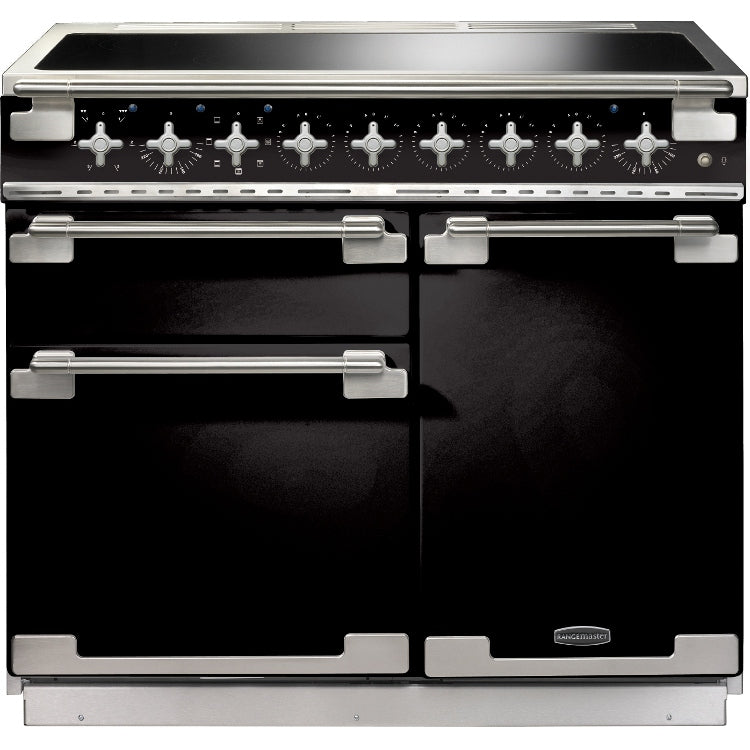 Rangemaster Elise ELS100EIGB 100cm Electric Range Cooker with Induction Hob - Gloss Black