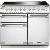Rangemaster Elise ELS100EIWH 100cm Electric Range Cooker with Induction Hob - White