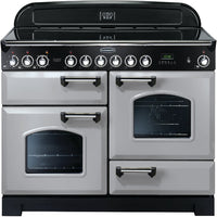 Rangemaster Classic Deluxe CDL110ECRP/C 110cm Electric Range Cooker with Ceramic Hob - Royal Pearl/Chrome Trim