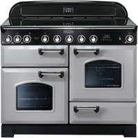 Rangemaster Classic Deluxe CDL110EIRP/C 100cm Electric Range Cooker with Induction Hob - Royal Pearl/Chrome Trim