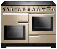 Rangemaster Professional Deluxe PDL110EICR/C 110cm Electric Range Cooker with Induction Hob - Cream/Chrome Trim