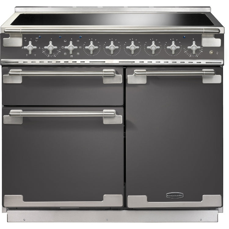 Rangemaster Elise ELS100EISL 100cm Electric Range Cooker with Induction Hob - Slate