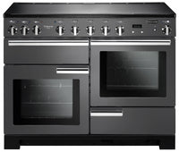 Rangemaster Professional Deluxe PDL110EISL/C 110cm Electric Range Cooker with Induction Hob - Slate/Chrome Trim