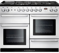 Rangemaster Nexus NEX110DFFWH/C 110cm Dual Fuel Range Cooker - White/Chrome Trim