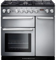 Rangemaster Nexus NEX90DFFSS/C 90cm Dual Fuel Range Cooker - Stainless Steel/Chrome Trim