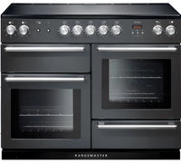 Rangemaster Nexus NEX110EISL/C 110cm Electric Range Cooker with Induction Hob - Slate/Chrome Trim