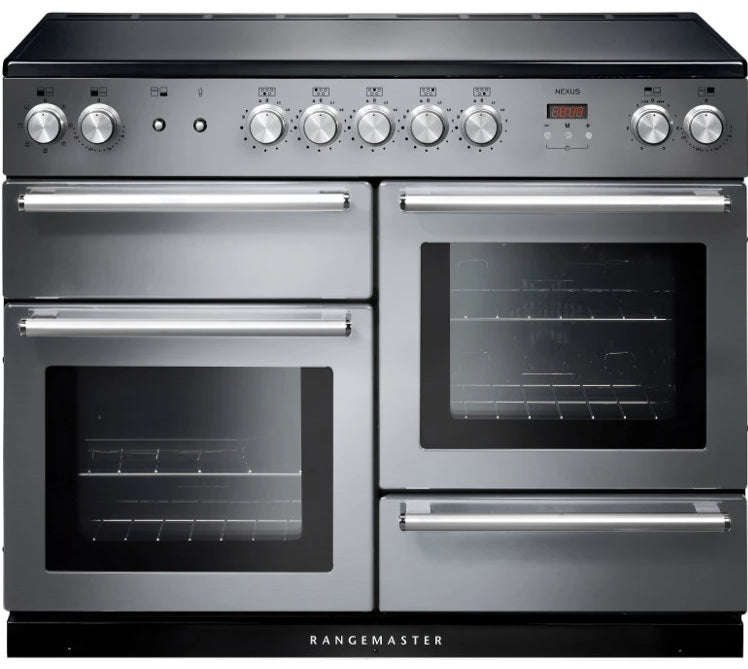 Rangemaster Nexus NEX110EISS/C 110cm Electric Range Cooker with Induction Hob - Stainless Steel/Chrome Trim