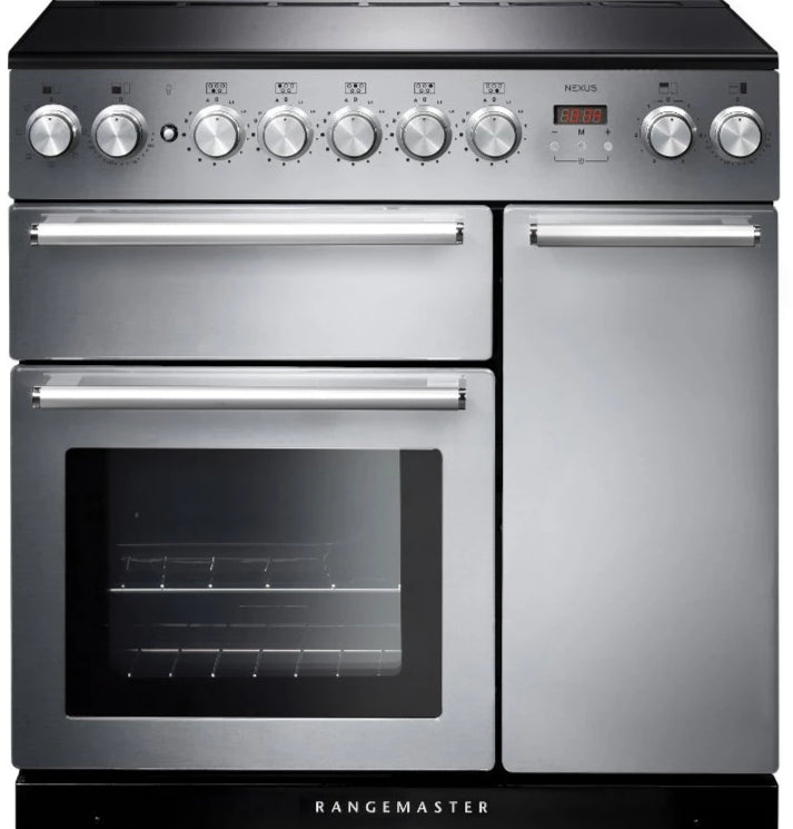 Rangemaster Nexus NEX90EISS/C 90cm Electric Range Cooker with Induction Hob - Stainless Steel/Chrome Trim