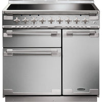 Rangemaster Elise ELS90EISS 90cm Electric Range Cooker with Induction Hob - Stainless Steel/Brushed Chrome Trim