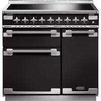 Rangemaster Elise ELS90EIGB 90cm Electric Range Cooker with Induction Hob - Black/Brushed Chrome Trim