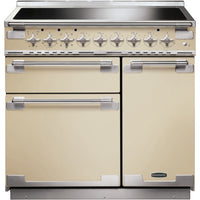 Rangemaster Elise ELS90EICR 90cm Electric Range Cooker with Induction Hob - Cream/Brushed Chrome Trim