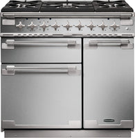 Rangemaster Elise ELS90DFFSS 90cm Dual Fuel Range Cooker - Stainless Steel/Brushed Chrome Trim