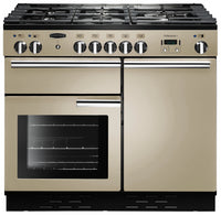 Rangemaster Professional Plus PROP100NGFCR/C 100cm Gas Range Cooker - Cream/Chrome Trim