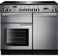 Rangemaster Professional Plus PROP100ECSS/C 100cm Electric Range Cooker with Ceramic Hob - Stainless Steel/Chrome Trim