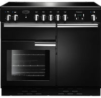 Rangemaster Professional Plus PROP100ECBL/C 100cm Electric Range Cooker with Ceramic Hob - Black/Chrome Trim