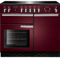Rangemaster Professional Plus PROP100ECCY/C 100cm Electric Range Cooker with Ceramic Hob - Cranberry/Chrome Trim