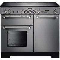 Rangemaster Kitchener KCH100ECSS/C 100cm Electric Range Cooker with Ceramic Hob - Stainless Steel/Chrome Trim