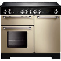Rangemaster Kitchener KCH100ECCR/C 100cm Electric Range Cooker with Ceramic Hob - Cream/Chrome Trim