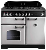 Rangemaster Classic Deluxe CDL100DFFRP/C 100cm Dual Fuel Range Cooker - Royal Pearl/Chrome Trim
