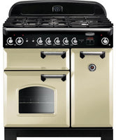 Rangemaster Classic CLA90NGFCR/C 90cm Gas Range Cooker - Cream/Chrome Trim
