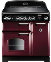 Rangemaster Classic CLA90EICYC 90cm Electric Range Cooker with Induction Hob  - Cranberry/Chrome Trim