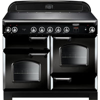 Rangemaster Classic CLA110EIBL/C 110cm Electric Range Cooker with Induction Hob - Black/Chrome