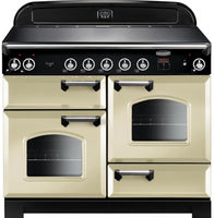 Rangemaster Classic CLA110EICR/C 110cm Electric Range Cooker with Induction Hob - Cream/Chrome Trim
