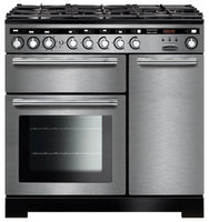 Rangemaster Encore Deluxe EDL90DFFSS/C 90cm Dual Fuel Range Cooker - Stainless Steel/Chrome Trim