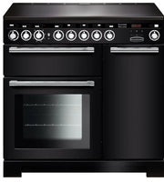 Rangemaster Encore Deluxe EDL90EIBL/C 90cm Electric Range Cooker with Induction Hob - Black/Chrome Trim